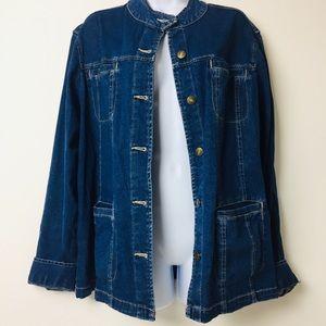 """KIM ROGERS Jean Jacket/Blazer XL"""""""